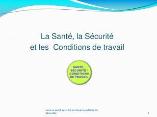 service santé sécurité au travail académie de Grenoble