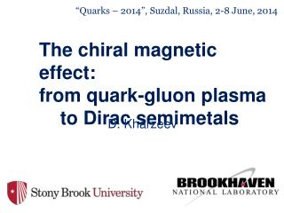The chiral magnetic effect: from quark-gluon plasma      to Dirac semimetals