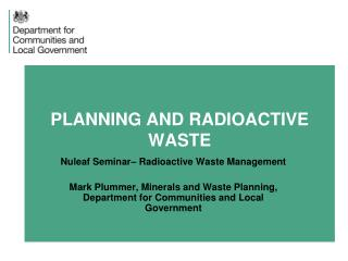 PLANNING AND RADIOACTIVE WASTE