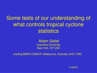 (visiting BMRC/CAWCR, Melbourne, Australia, 8/07-7/08)