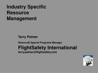 Industry Specific Resource Management