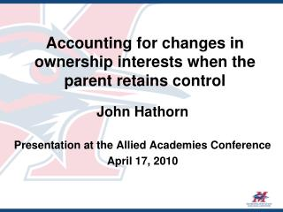 Accounting for changes in ownership interests when the parent retains control
