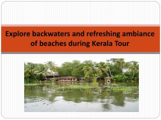 Explore backwaters and refreshing ambiance of beaches during