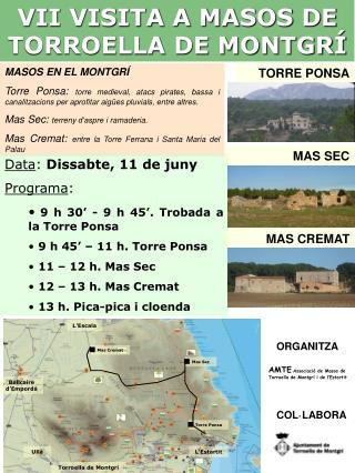VII VISITA A MASOS DE TORROELLA DE MONTGRÍ