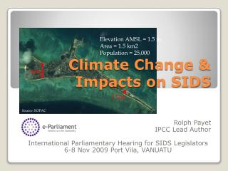 Climate Change & Impacts on SIDS