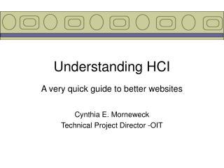 Understanding HCI
