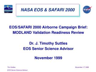 NASA EOS & SAFARI 2000