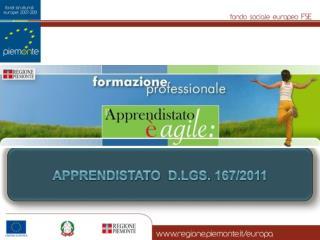 apprendistato   D.Lgs.  167/2011