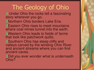 The Geology of Ohio