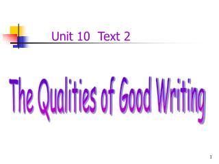 Unit 10  Text 2