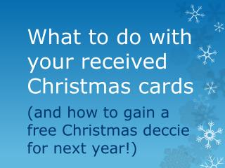 What to do with your received Christmas cards