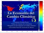 La Econom a del Cambio Clim tico