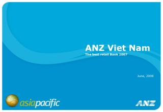 ANZ Viet Nam The best retail Bank 2007