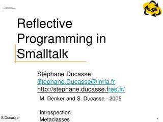 Reflective Programming in Smalltalk