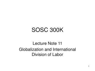 SOSC 300K