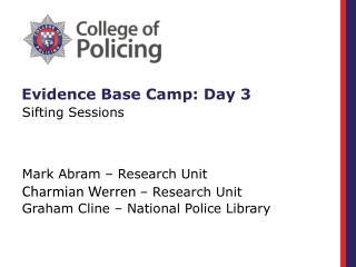 Evidence Base Camp: Day 3