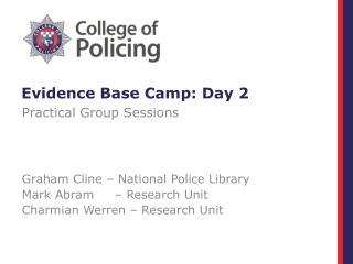 Evidence Base Camp: Day 2