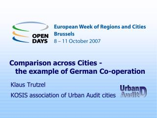 Comparison across cities – the example of German co-operation