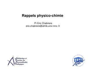 Rappels physico-chimie