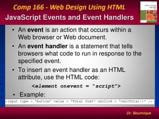 JavaScript Events and Event Handlers