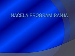 Načela programiranja