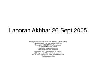 Laporan Akhbar 26 Sept 2005