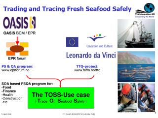 Trading and Tracing Fresh Seafood Safely