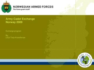 Army Cadet Exchange Norway 2009