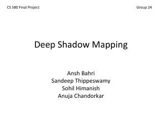 Deep Shadow Mapping
