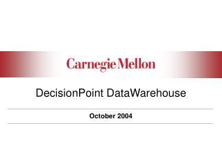DecisionPoint DataWarehouse
