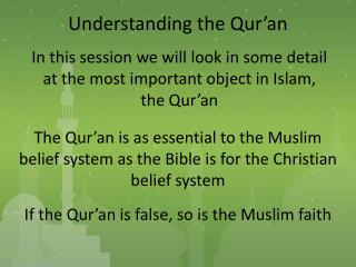 Understanding the Qur�an