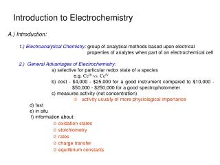 Introduction to Electrochemistry