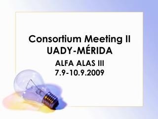 Consortium Meeting II UADY-MÉRIDA