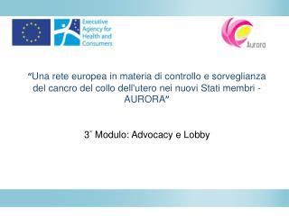 3 °  Modulo: Advocacy e Lobby