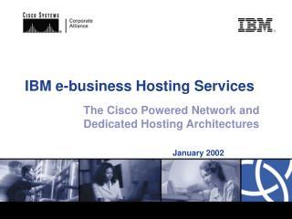 IBM e-business Hosting Services