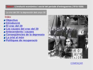 Tema 8 . L'evolució econòmica i social del període d'entreguerres (1918-1939)
