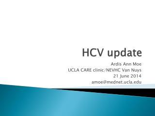 HCV update