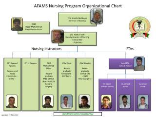 AFAMS Nursing Program Org Chart
