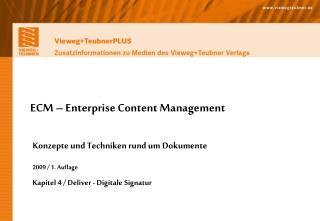 ECM – Enterprise Content Management