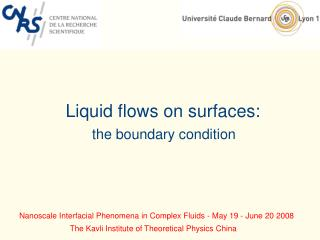 Liquid flows on surfaces: