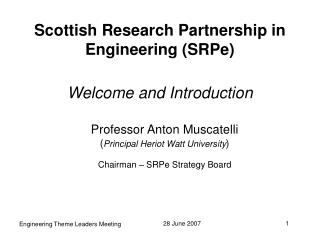 Scottish Research Partnership in Engineering (SRPe)
