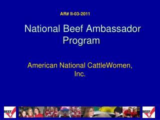 National Beef Ambassador Program