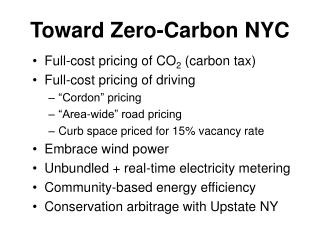 Toward Zero-Carbon NYC