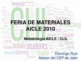 FERIA DE MATERIALES AICLE 2010