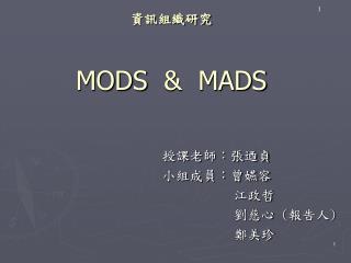 資訊組織研究 MODS  &  MADS