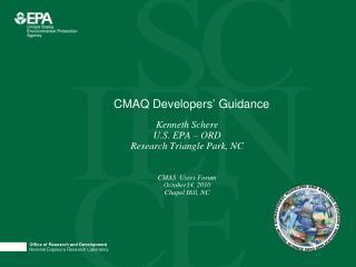 CMAQ Developers' Guidance