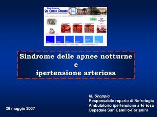 Sindrome delle apnee notturne e ipertensione arteriosa