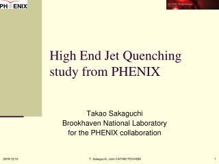 High End Jet Quenching study from PHENIX