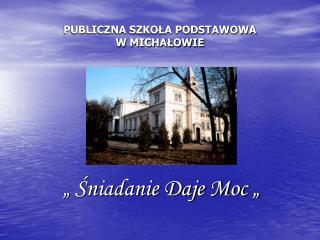 PUBLICZNA SZKOŁA PODSTAWOWA W MICHAŁOWIE