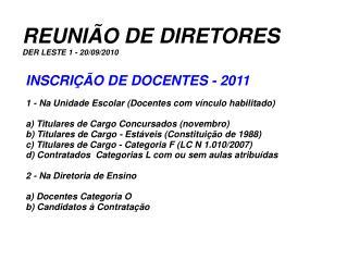 REUNI O DE DIRETORES DER LESTE 1 - 20